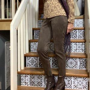 Zara Faux Suede Legging side zipper